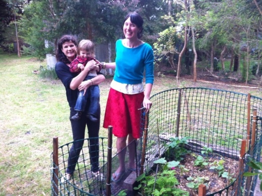 Myself, Kate and WIllem at the Vege Patch. Me in said skirt.